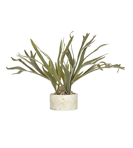 ABIGAIL AHERN Faux Staghorn fern in clay pot 57cm