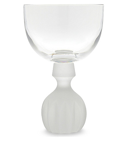 LEE BROOM Half Cut frosted wine glass