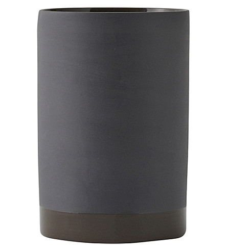 MENU Cylindrical small ceramic vase 15cm