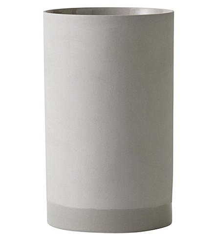 MENU Cylindrical large ceramic vase 20cm
