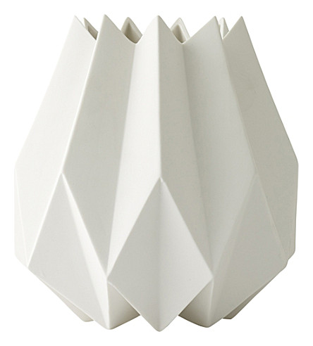 MENU Folded tall ceramic vase