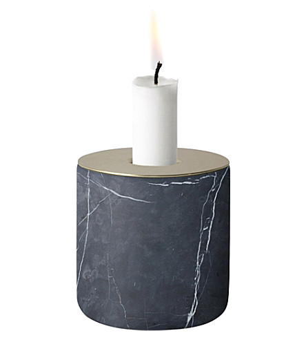 MENU CHUNK of marble large marble candle holder