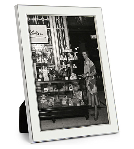 ADDISON ROSS LONDON Enamel white photo frame 5