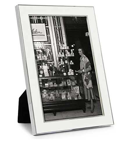 ADDISON ROSS LONDON Enamel white photo frame 4
