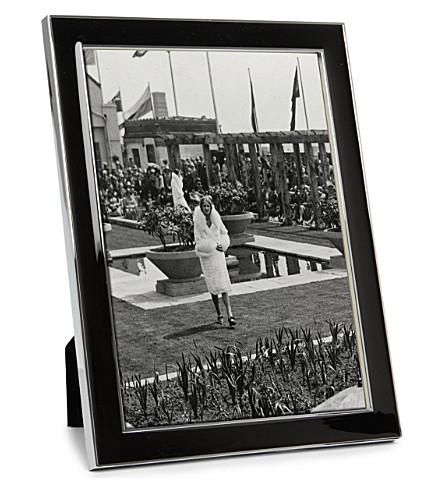 ADDISON ROSS LONDON - Enamel black photo frame 5\
