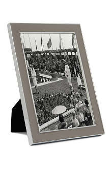 ADDISON ROSS LONDON Enamel taupe photo frame 4