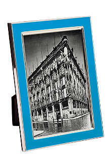 ADDISON ROSS LONDON Neon blue enamel photo frame 4
