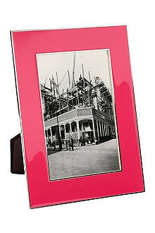 ADDISON ROSS LONDON Neon pink enamel photo frame 4