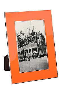ADDISON ROSS LONDON Neon orange enamel photo frame 4