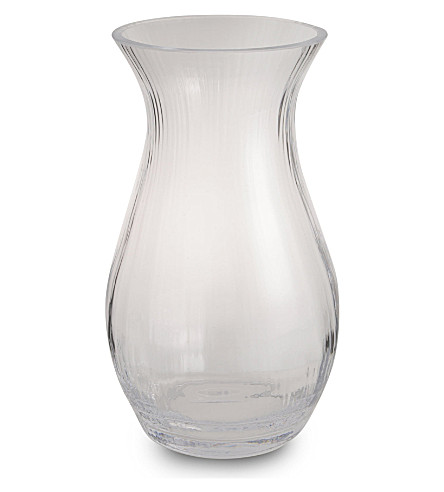 LSA Flower Texture glass vase 32cm