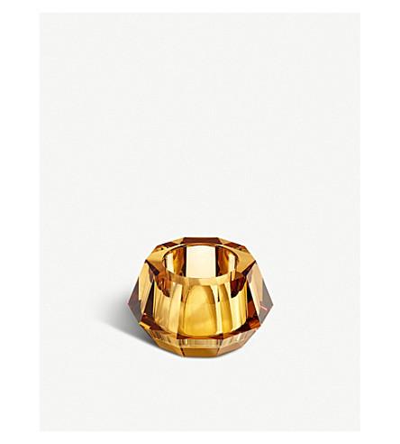 SWAROVSKI Lumen round crystal candleholder