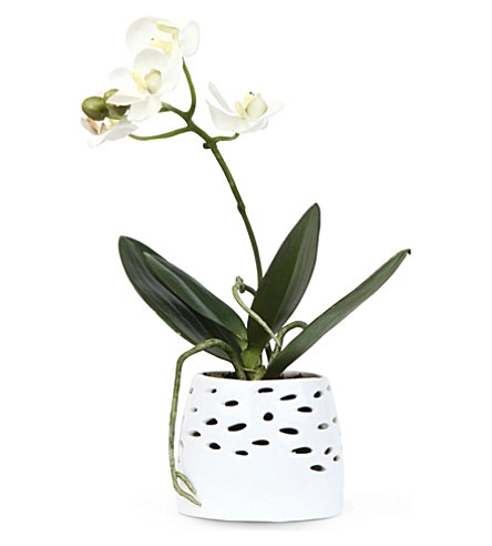 SIA HOME FASHION Mini Phalaenopsis artificial flower pot 20cm
