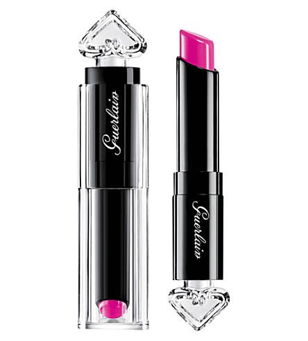 GUERLAIN La Petite Robe Noire lipstick (Orchid+beanie