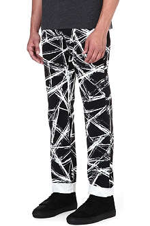 MCQ ALEXANDER MCQUEEN Scratch-print regular-fit straight jeans