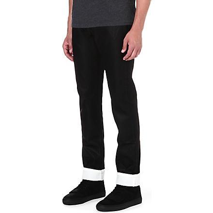 MCQ ALEXANDER MCQUEEN Overdye regular-fit straight jeans (Black