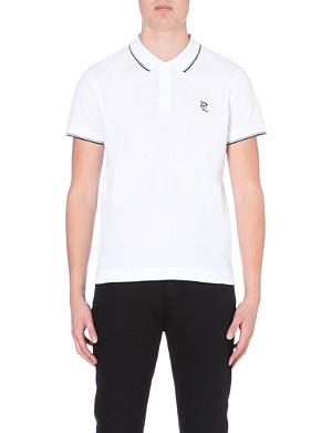MCQ ALEXANDER MCQUEEN Embroidered safety pin logo cotton polo shirt