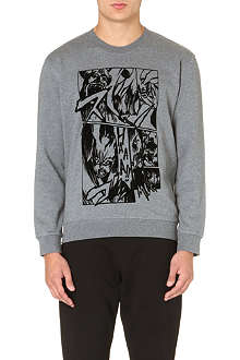 MCQ ALEXANDER MCQUEEN Manga cotton-jersey sweatshirt