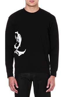 MCQ ALEXANDER MCQUEEN Scratched logo sweatshirt