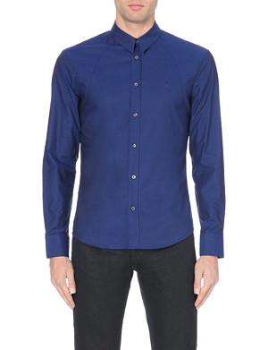 MCQ ALEXANDER MCQUEEN Harness slim fit single cuff shirt