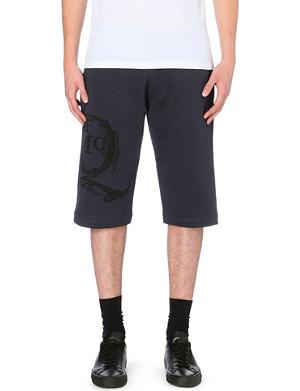 MCQ ALEXANDER MCQUEEN Oversized branding cotton-jersey shorts