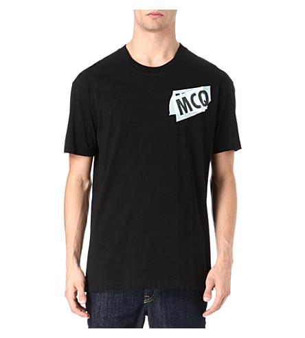 MCQ ALEXANDER MCQUEEN Tape logo t-shirt (Black