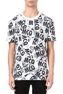 MCQ ALEXANDER MCQUEEN All-over tape-print t-shirt