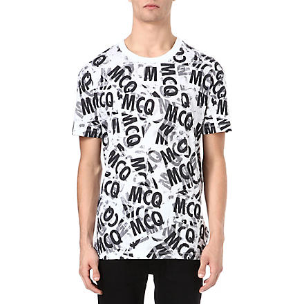 MCQ ALEXANDER MCQUEEN All-over tape-print t-shirt (White