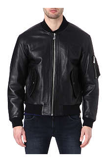 MCQ ALEXANDER MCQUEEN MA-1 leather bomber jacket