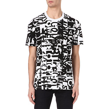 MCQ ALEXANDER MCQUEEN Text-print t-shirt (White/black