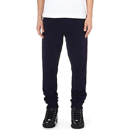 MCQ ALEXANDER MCQUEEN Logo-embroidered jogging bottoms (Navy