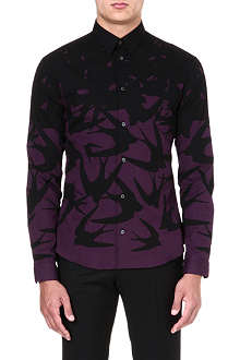 MCQ ALEXANDER MCQUEEN Swallow-print cotton shirt