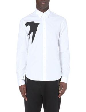 MCQ ALEXANDER MCQUEEN Swallow-print cotton shirt
