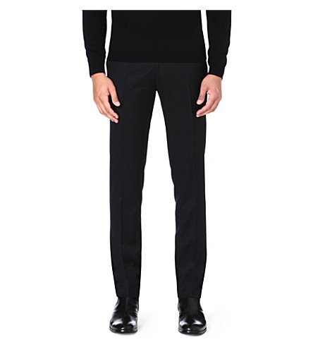 MCQ ALEXANDER MCQUEEN Wool-blend tapered trousers (Black