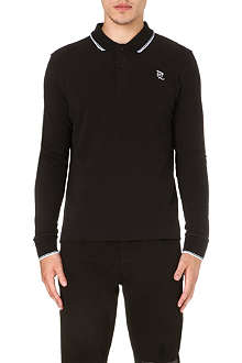 MCQ ALEXANDER MCQUEEN Logo-detailed long-sleeved polo shirt