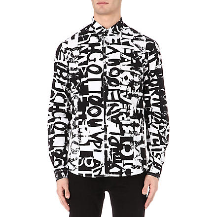 MCQ ALEXANDER MCQUEEN Text-print shirt (White/black