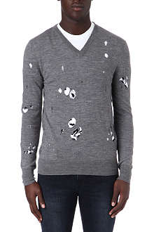 MCQ ALEXANDER MCQUEEN Hole-detailed knitted jumper