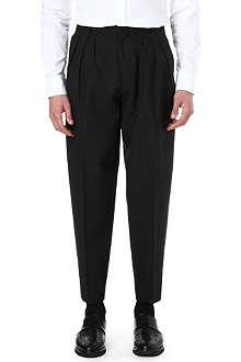 MCQ ALEXANDER MCQUEEN Pleated wool trousers