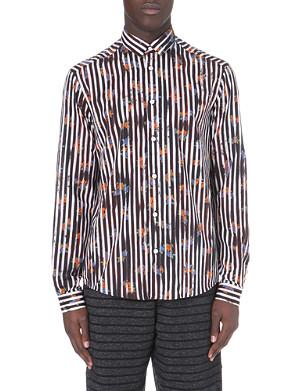 MCQ ALEXANDER MCQUEEN Floral stripe cotton shirt