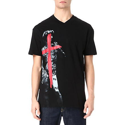 MCQ ALEXANDER MCQUEEN Tape David print t-shirt (Black
