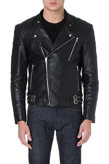 MCQ ALEXANDER MCQUEEN Leather biker jacket