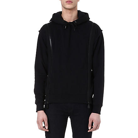 MCQ ALEXANDER MCQUEEN Zip-detailed hoody (Black