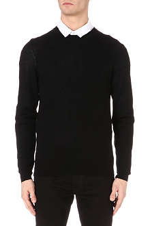 MCQ ALEXANDER MCQUEEN Logo-embroidered knitted jumper