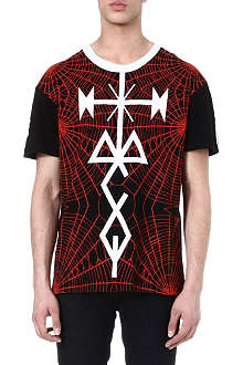 MCQ ALEXANDER MCQUEEN Tattoo and spider-printed t-shirt