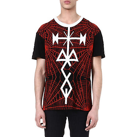 MCQ ALEXANDER MCQUEEN Tattoo and spider-printed t-shirt (White/black