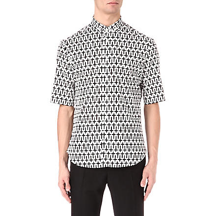 MCQ ALEXANDER MCQUEEN Cross printed shirt (White/black