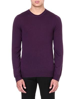 MCQ ALEXANDER MCQUEEN Logo-embroidered knitted jumper
