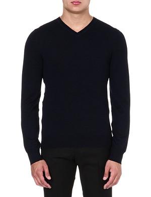 MCQ ALEXANDER MCQUEEN Classic v-neck wool jumper