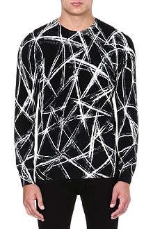 MCQ ALEXANDER MCQUEEN Scratch-print silk-blend jumper