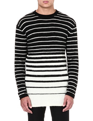 MCQ ALEXANDER MCQUEEN Dégradé stripe knit jumper