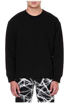 MCQ ALEXANDER MCQUEEN Side-zip jersey sweatshirt